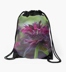 Bee mine_Monarda bee balm Drawstring Bag