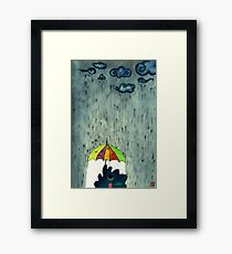 Oh! Raining Night Framed Print