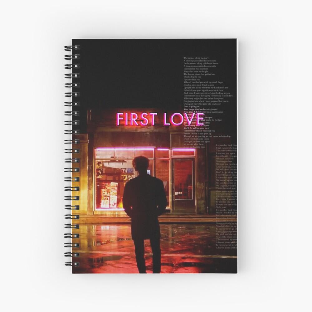 bts - suga first love Spiral Notebook