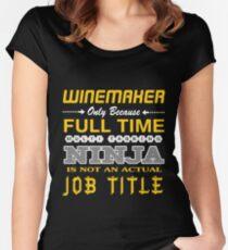 WINEMAKER BEST DESIGN 2017 Women's Fitted Scoop T-Shirt