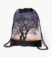 Two Trees embracing Drawstring Bag