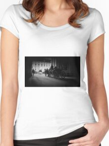 Horse-drawn carriage in Vienna, Austria Women's Fitted Scoop T-Shirt