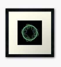 Fractal - 0008 - The Green Framed Print