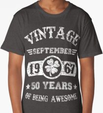 Birthday September 1967 50 Years Of Being Awesome Long T-Shirt