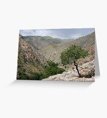 Sentab Valley, Uzbekistan Greeting Card