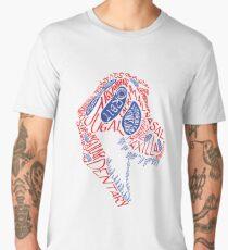 Calligram of the Anatomy of a Tyrannosaur Skull gradient Men's Premium T-Shirt