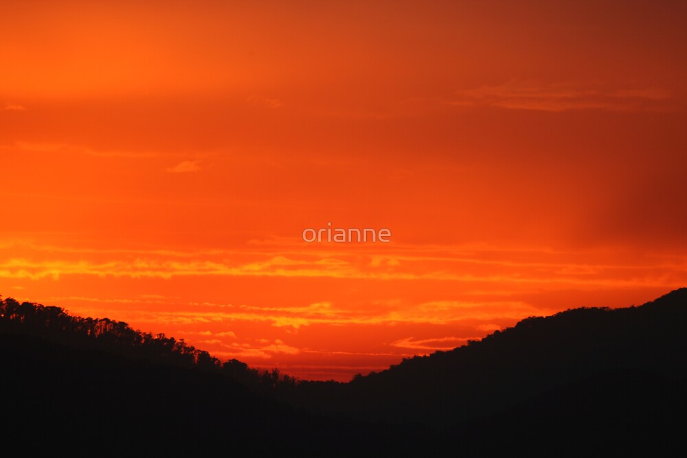Red Sunrise by orianne