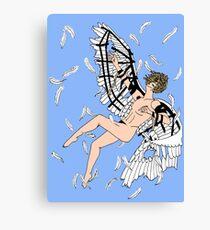 Icarus Descent (Color) Canvas Print
