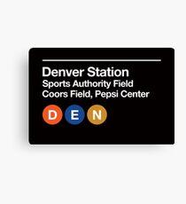 Denver Pro Sports Venues Subway Sign Canvas Print