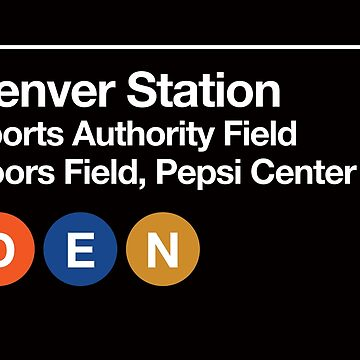 Denver Pro Sports Venues Subway Sign by phoneticwear
