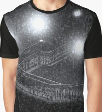 Central Park Snowing  Graphic T-Shirt