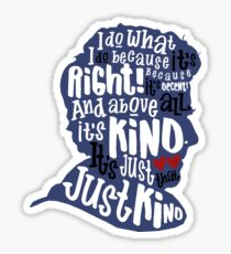 Twelfth Doctor- Kindness Sticker