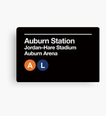 Auburn Sports Venues Subway Sign Canvas Print