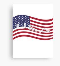 USA, national flag, patriot symbol Canvas Print