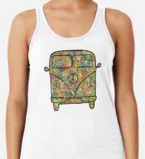 VW Hippie Van Racerback Tank Top