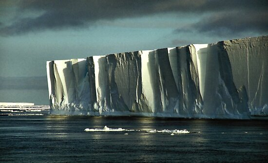 Tabular Iceberg Antarctica - at Night by Carole-Anne