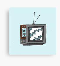 Retro Television Canvas Print