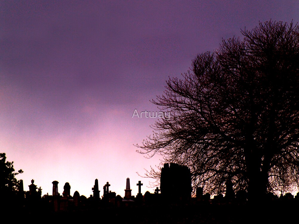 Purple Sky by Artway