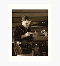 Paul Thompson - mandolinist Art Print