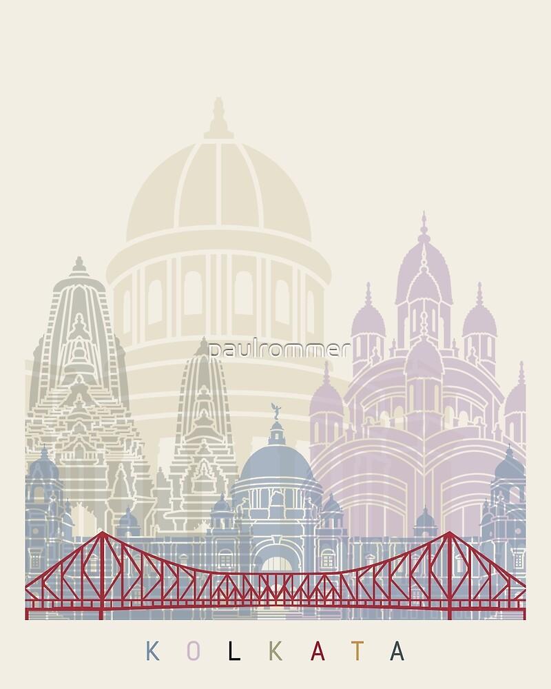 Kolkata skyline poster  by paulrommer