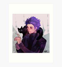 Lámina artística Hitoshi Shinsou + Gato