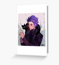 Hitoshi Shinsou + Cat Greeting Card