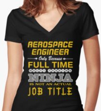 AEROSPACE ENGINEER BEST DESIGN 2017 Women's Fitted V-Neck T-Shirt