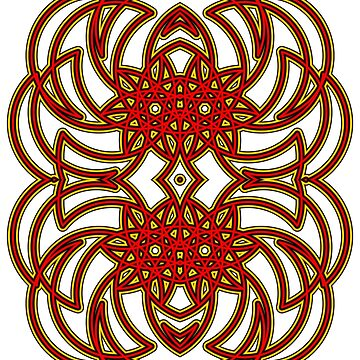 Dragon Tribal Red by WildcatFractals