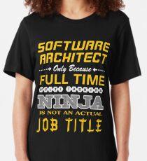 SOFTWARE ARCHITECT BEST DESIGN 2017 Slim Fit T-Shirt