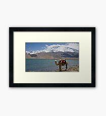 Phone coverage at Lake Kara Kul Framed Print
