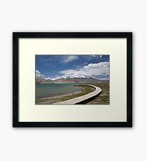Lake Kara Kul Framed Print
