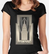 NY Chrysler Building Women's Fitted Scoop T-Shirt