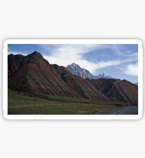 Colourful Mountains Sticker