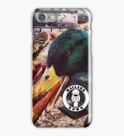 Heavy Shot Mallards - Mallard Down iPhone Case/Skin