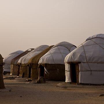 Yurts at Ayaz Kala by Scully