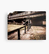 Under The Urban Bridge Metal Print