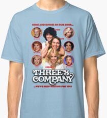 THREE'S COMPANY Come and knock on our door Classic T-Shirt