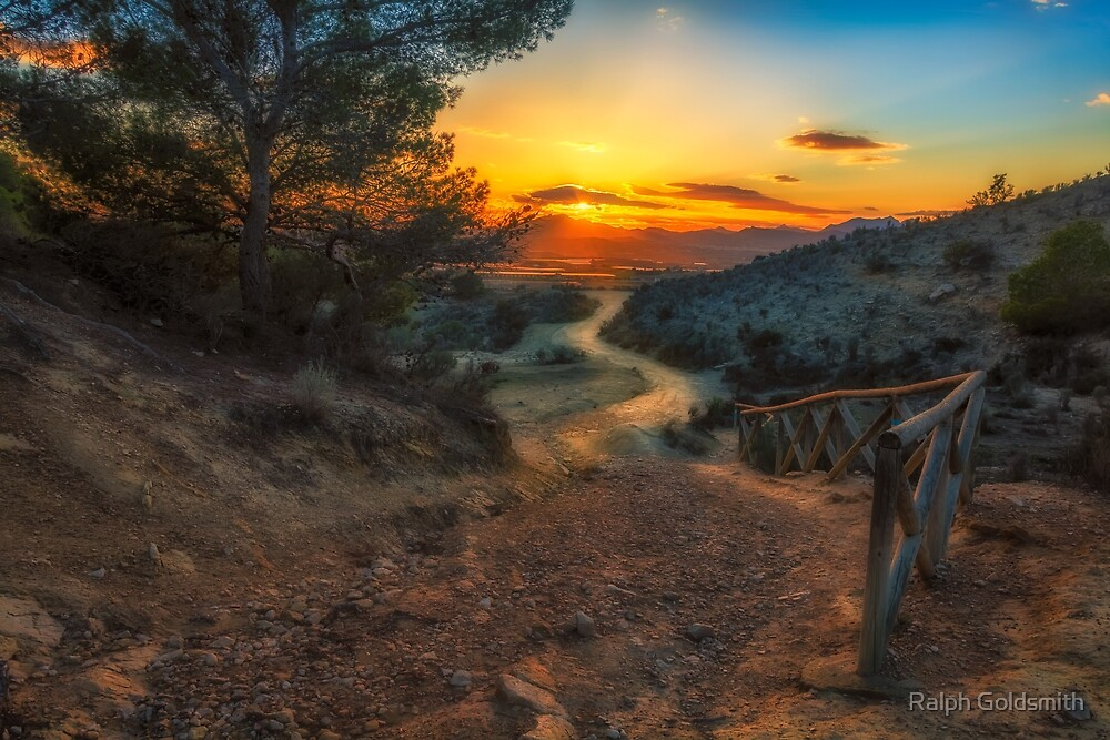 The path to the sunset  by Ralph Goldsmith
