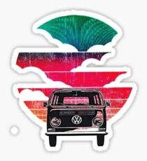 Vw Bay sunset & Clouds Sticker