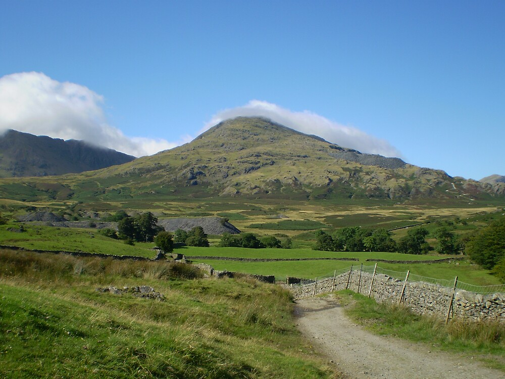 Hill in lake district by Francis yate