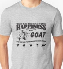 Goat Funny Design -  Happiness Buy A Goat T-Shirt
