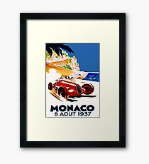 """MONACO GRAND PRIX"" Vintage Auto Racing Advertising Print Framed Print"
