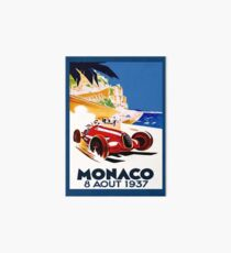 """MONACO GRAND PRIX"" Vintage Auto Racing Advertising Print Art Board"