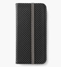 Geometric grid background. Modern dark texture. iPhone Wallet