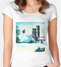 Abstract 14 Women's Fitted Scoop T-Shirt