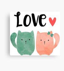 Cute Cats Canvas Print