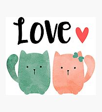 Cute Cats Photographic Print