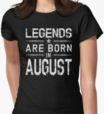 Legends Are Born In August Shirt - Vintage Distressed T-Shirt Womens Fitted T-Shirt