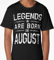 Legends Are Born In August Shirt - Vintage Distressed T-Shirt Long T-Shirt
