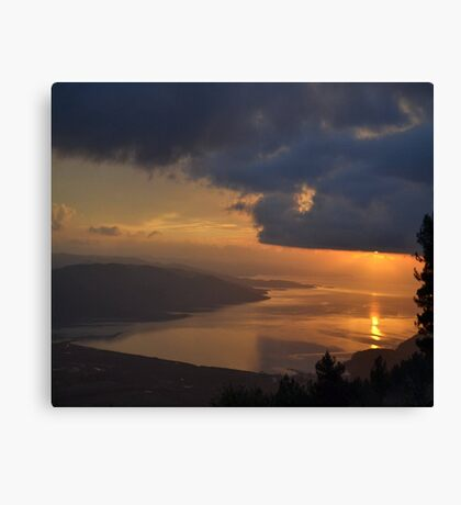 Gokova Sunset and Storm Clouds Canvas Print